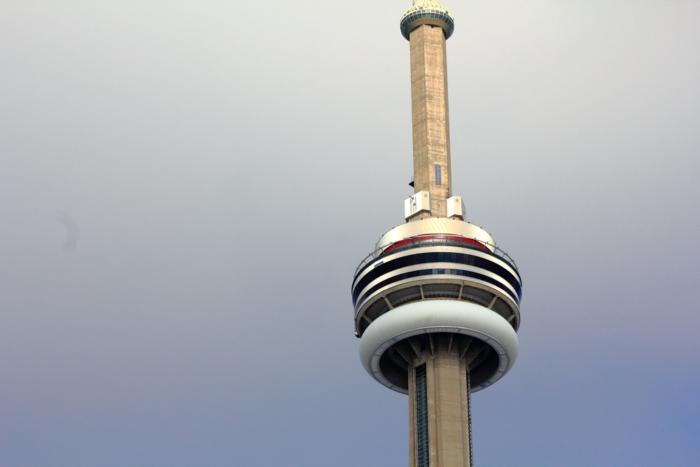 close of CN tower
